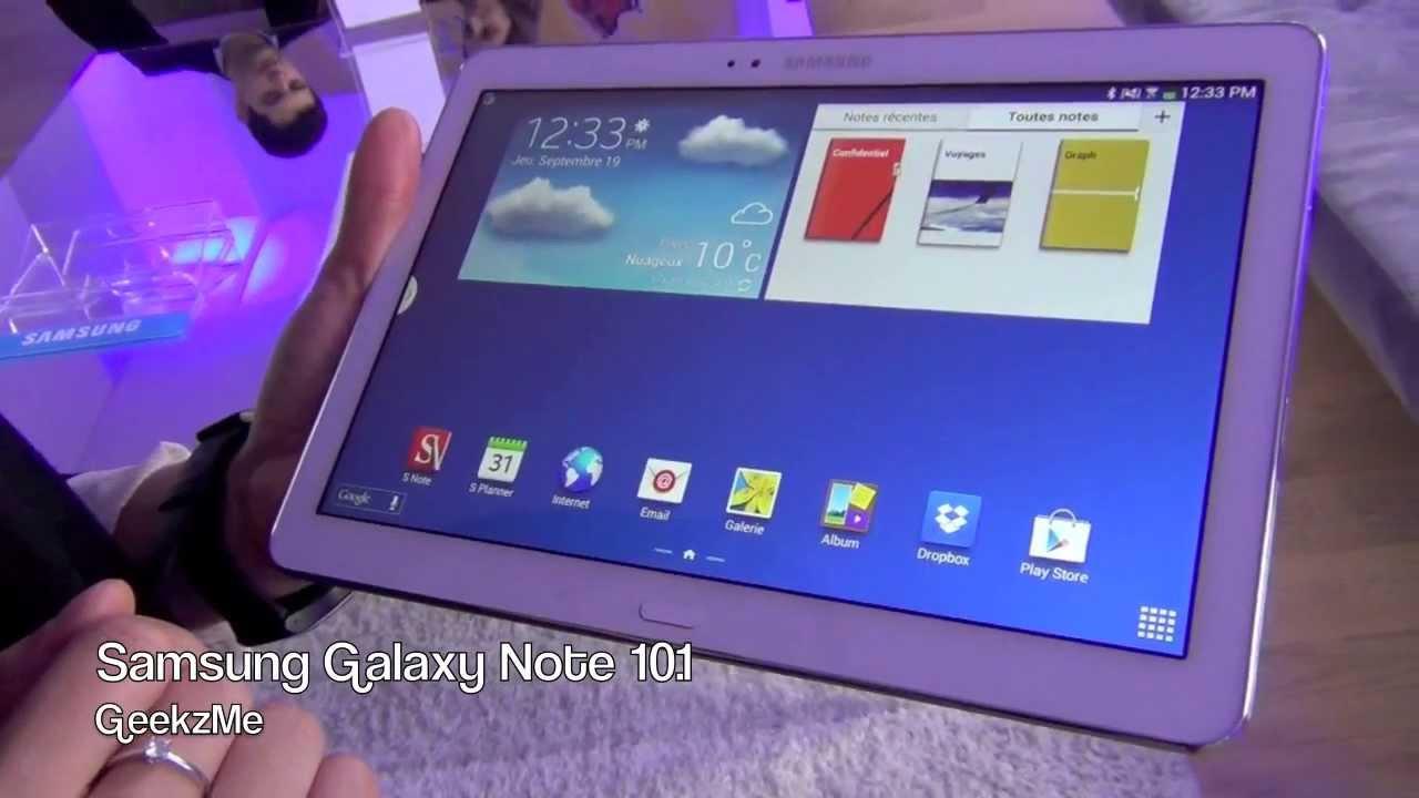 samsung galaxy note 10 1 dition 2014 pr sentation de la tablette youtube