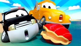 Der Streifenwagen in Autopolis - Sommer Spezial Folge - Das Wasser Rätsel -Cartoons für Kinder  