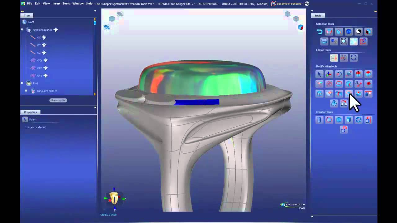Modern CAD Solutions 3DESIGN CAD 7 Jewelry Design Software YouTube