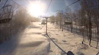 Skiing at Jack Frost Mountain, PA - January 3, 2013 filmed with GoPro