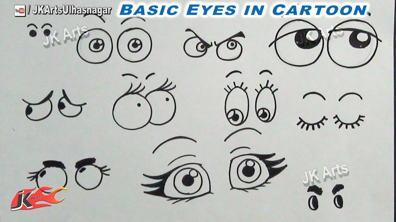 How to draw anime cartoon eyes