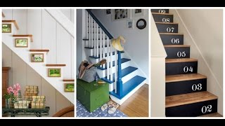 Unique Stair Risers Decoration - Super Easy Way How To Diy
