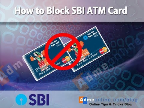 How To Block Your SBI ATM Debit Card Online By Internet Banking (2018)