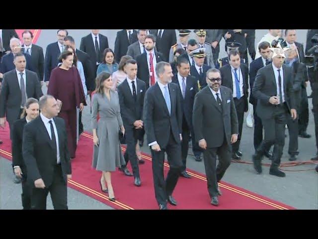 Arrivée au Maroc de Sa Majesté le Roi Felipe VI dEspagne et de la Reine Dona Letizia