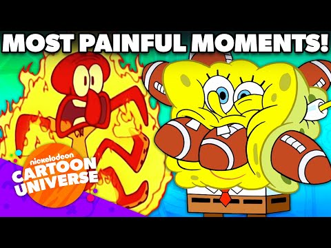 Most PAINFUL Moments Ever in SpongeBob!   Nickelodeon Cartoon Universe
