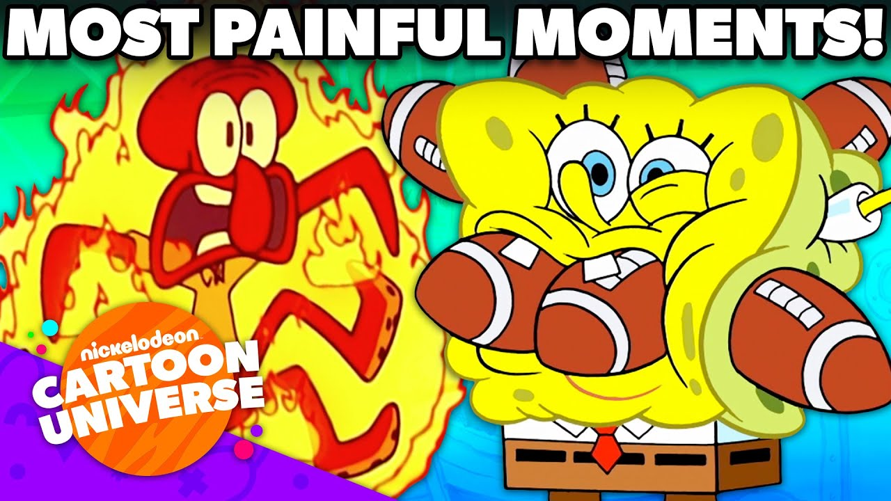 Most PAINFUL Moments Ever in SpongeBob! | Nickelodeon Cartoon Universe