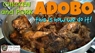 CHICKEN and PORK ADOBO (Mrs.Galang