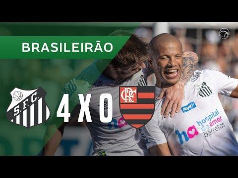 SANTOS 4 X 0 FLAMENGO - GOLS - 08/12 - BRASILEIRÃO 2019