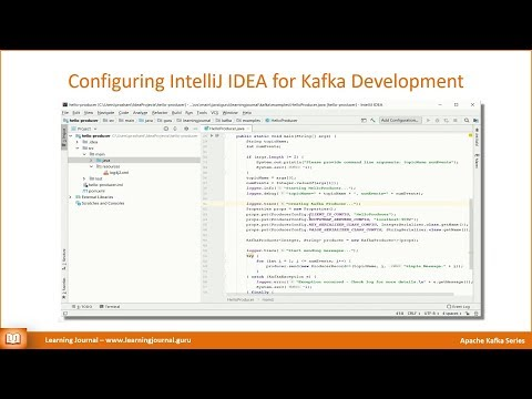 Configuring IntelliJ IDEA for Kafka - Learning Journal