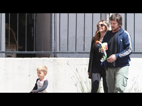 Christian Bale And Family Enjoy A Pleasant Morning