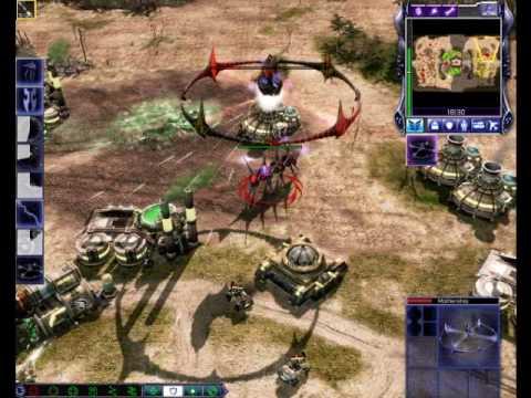 CnC 3 - Tiberium Wars / Scrin Mothership Wipeout