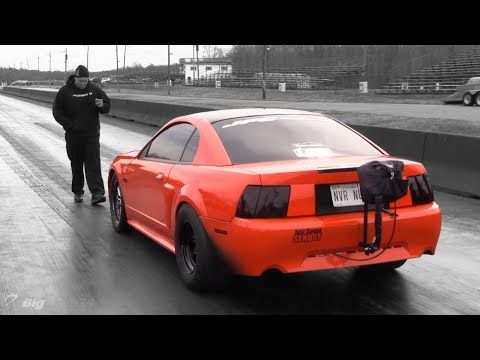 Turbo Mustang Using Both Lanes! Wicked Test Hits - 동영상