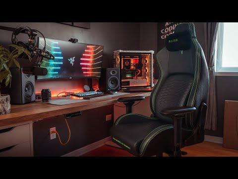 Chaise de jeu de configuration de bureau de productivité | Razer Iskur