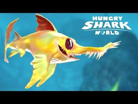 LOGAN SAWSHARK PET GAMEPLAY! - Hungry Shark World - New Special Pet Unlocked!