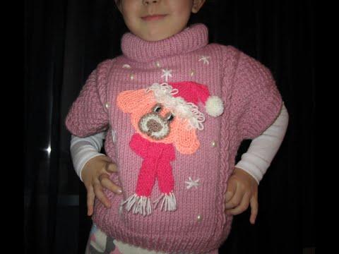 ВЯЗАНИЕ! КРАСИВАЯ  ЖИЛЕТКА (безрукавка).Вязания для начинающих.knitting.
