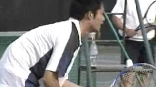 20051113 杉村太蔵議員小池大臣とテニスを楽しむ thumbnail