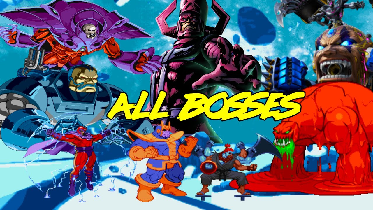 Marvel Vs Capcom All Boss Fights Evolution 1994 2017