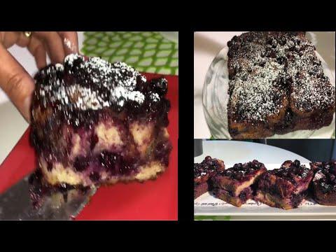 recette-gâteau-aux-bleuets-sans-farine-secret-magique-(magic-cake-recipe)كيكة-سهلة