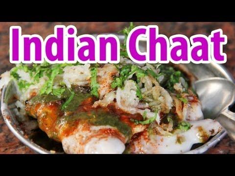 Indian Street Food Chaat at Kashi Chaat Bhandar in Varanasi, India