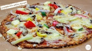 How to make Cauliflower Pizza Crust *low-carb* [Delicious Food Adventures]