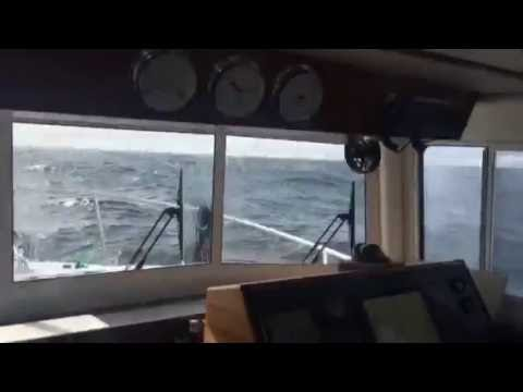 Nordic Tug 34 in 5-ft Breaking Waves in SE Alaska