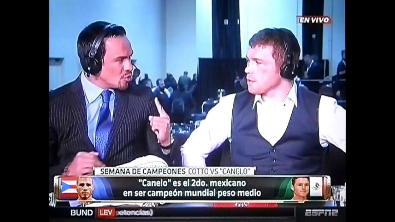 Juan Manuel Márquez entrevista a Saúl el Canelo Álvarez después de ...