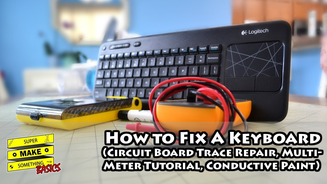 how to fix a keyboard circuit board trace repair multimeter rh youtube com