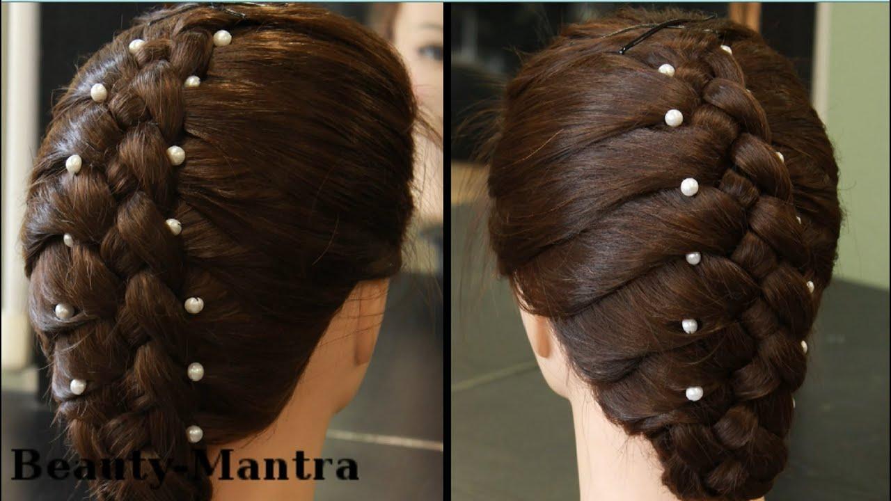Hairstyle Four Strand Braid Youtube