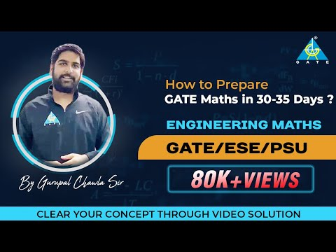 How to Prepare GATE Maths in 30-35 Days ?