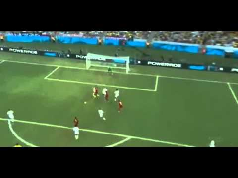André Ayew Amazing Goal   Germany vs Ghana 1-1   World cup 2014