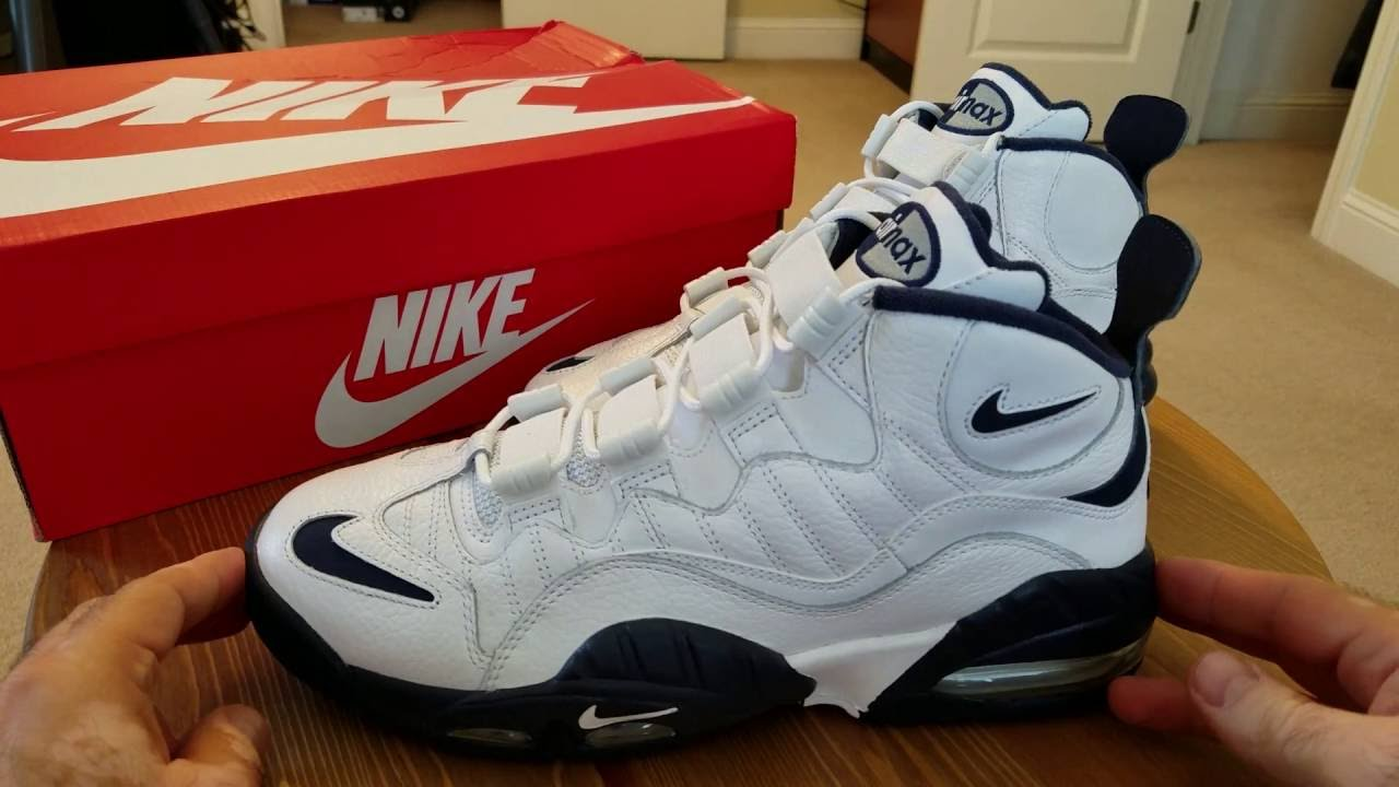 7f10cefc4e20 Nike Air Max Sensation - White and Navy - YouTube