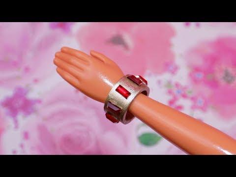 DIY Miniature Barbie Doll Bracelets Jewelry 💎 How to Make Dollhouse, Barbie, MLP, LPS Crafts & Stuff