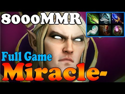 Dota 2 - Miracle- 8000MMR Plays Invoker - Full Game - Ranked Match Gameplay