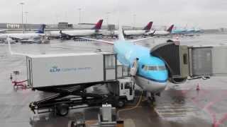 Amsterdam to Kiev - Takeoff, Landing, Taxi - KLM 737-700 - Борисполь Аэропорт