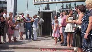 Роспись и выход из Центрального ЗАГСа в Запорожье. Александр и  Анна