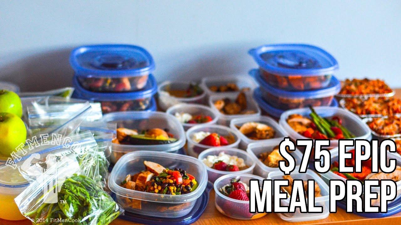 Fitmencook 75 Epic Meal Prep Bodybuilding Budget Prep De Comida