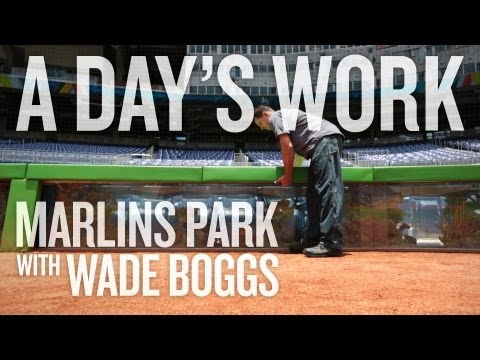 A Day's Work With Wade Boggs -- Marlins Park