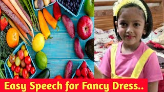 School Fancy Dress Competition..School 1st Price..Fruit & vegetable basket