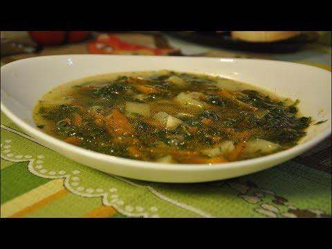 Зеленый суп из крапивы, весенний и очень полезный
