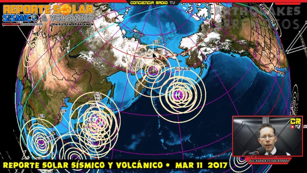 Reporte Solar Sismico Y Volcanico Mar 11 2017 Youtube