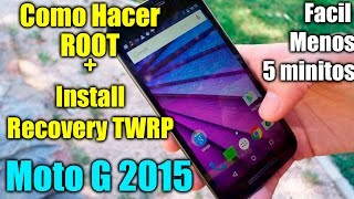 Como hacer ROOT MOTO G 2015   Root + Recovery TWRP   Explicado   Tecnocat