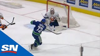 Tyler Toffoli Snaps Home Goal After Nice Feed From Elias Pettersson
