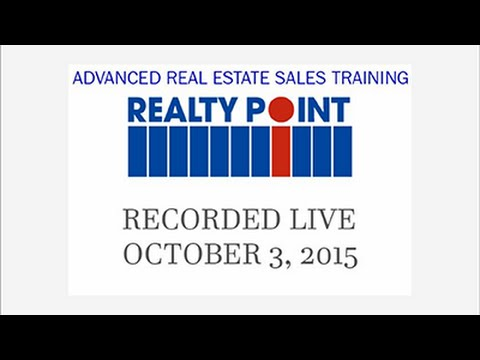 Advanced Real Estate Sales Training Oct 3 2015