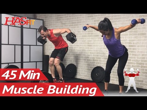 45 Min Chest and Back Workout with Dumbbells at Home Upper Body Workout Routine for Men & Women