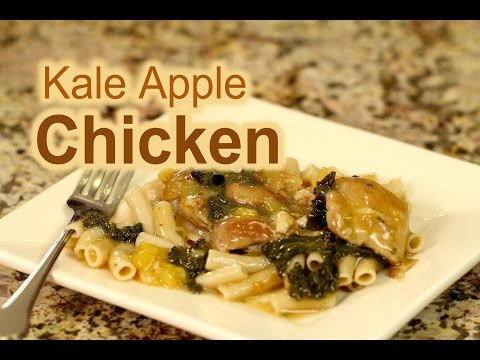 How To Make Apple Chicken With Kale From Scratch   Rockin Robin Cooks