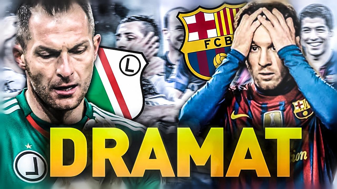 23bc091c9 DRAMATYCZNA FC Barcelona | Legia PRZEGRYWA z Ruchem - YouTube