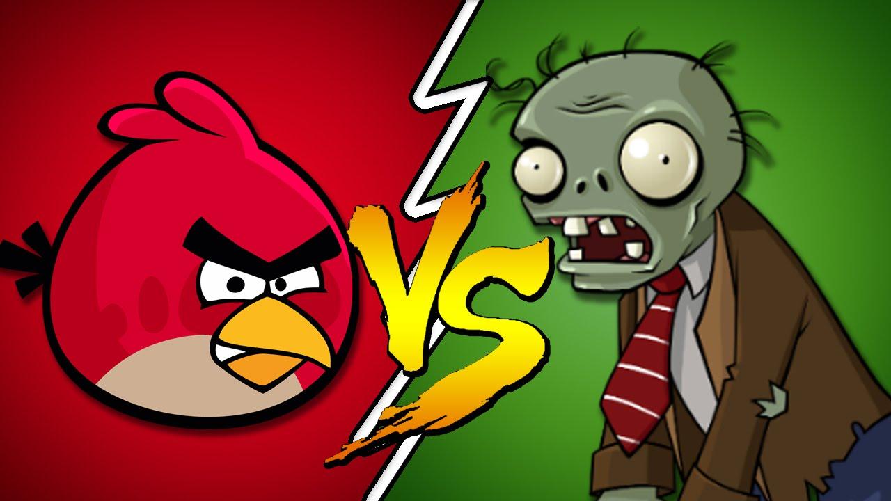 Angry Birds Vs Plants Zombies Youtube