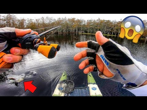CRAZY Fish DESTROYS My Lure!!! (Micro Boat Fishing)