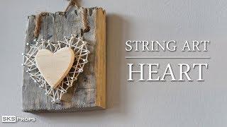 String Art Heart DIY Tutorial
