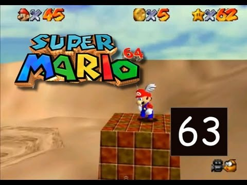Super Mario 64 - Shifting Sand Land - Stand Tall on all Four Pillars - 63/120